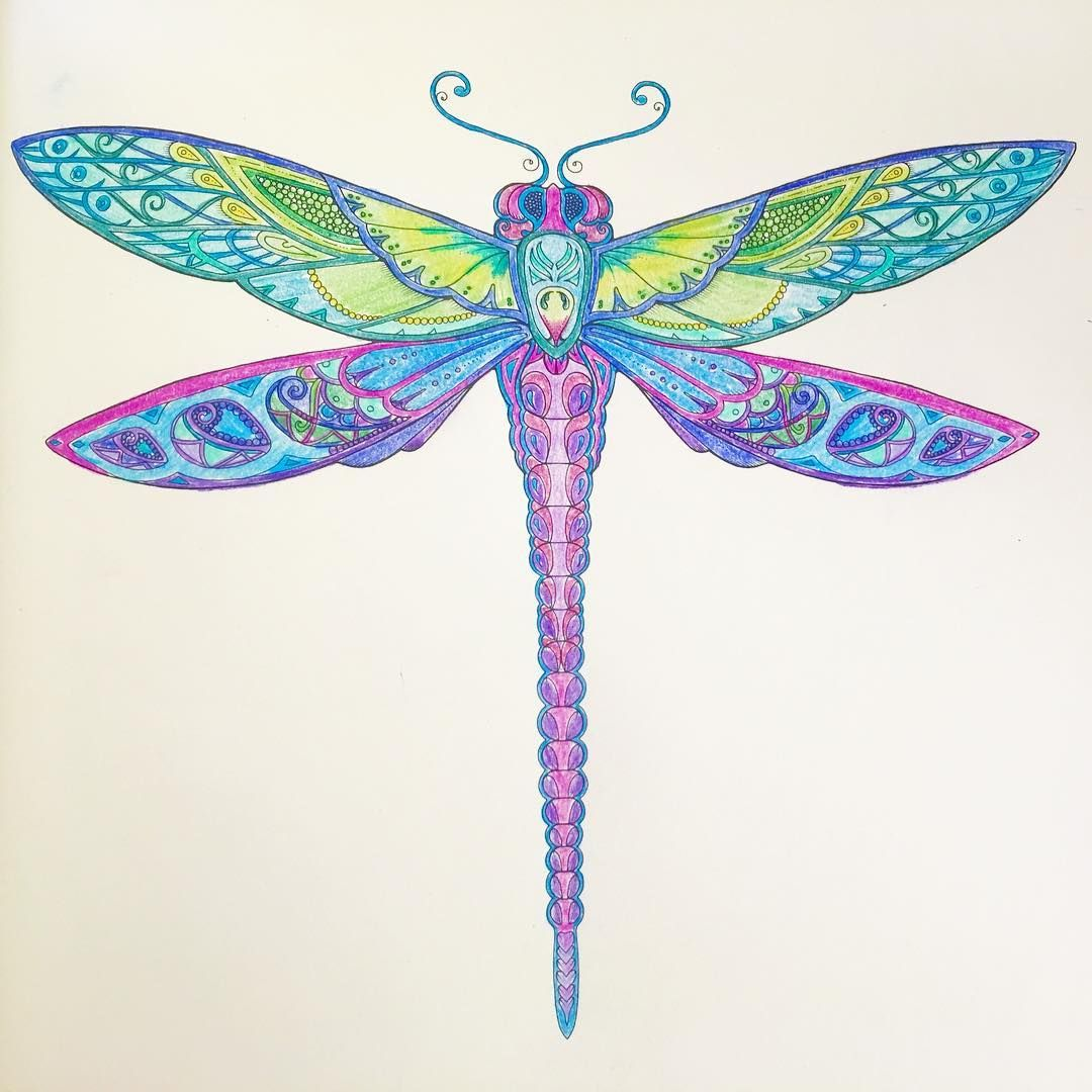 A little coloring today trying to combat a funk 🤔 #artsandcrafts #grownupcoloring #grownupcoloringbook #coloring #coloringbook #dragonfly