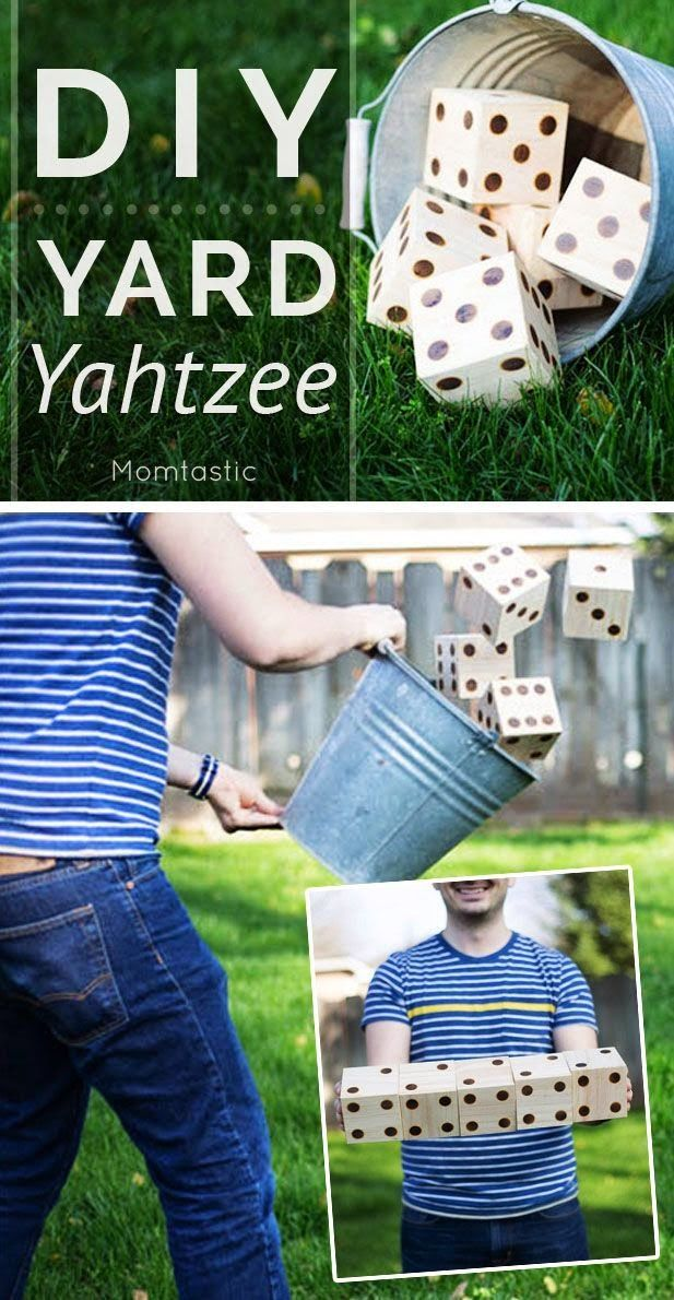 diy yard yahtzee game party games pinterest yards gaming and