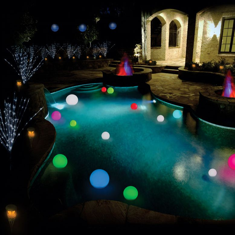 Floating Orbs Amp More Lighting Ideas Floating Pool Lights