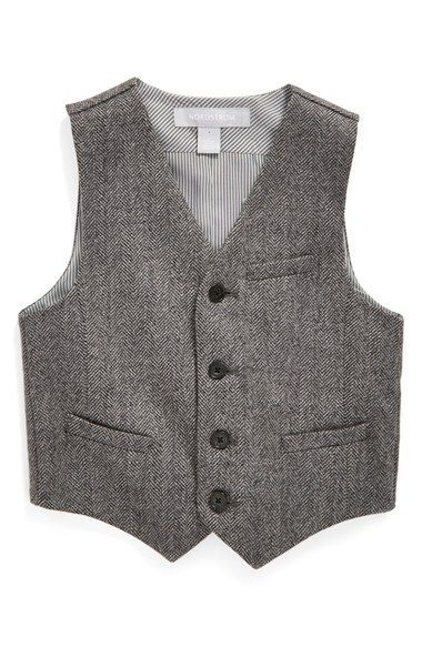 Nordstrom 'Elliot' Herringbone Vest (Toddler Boys, Little Boys & Big Boys) available at #Nordstrom