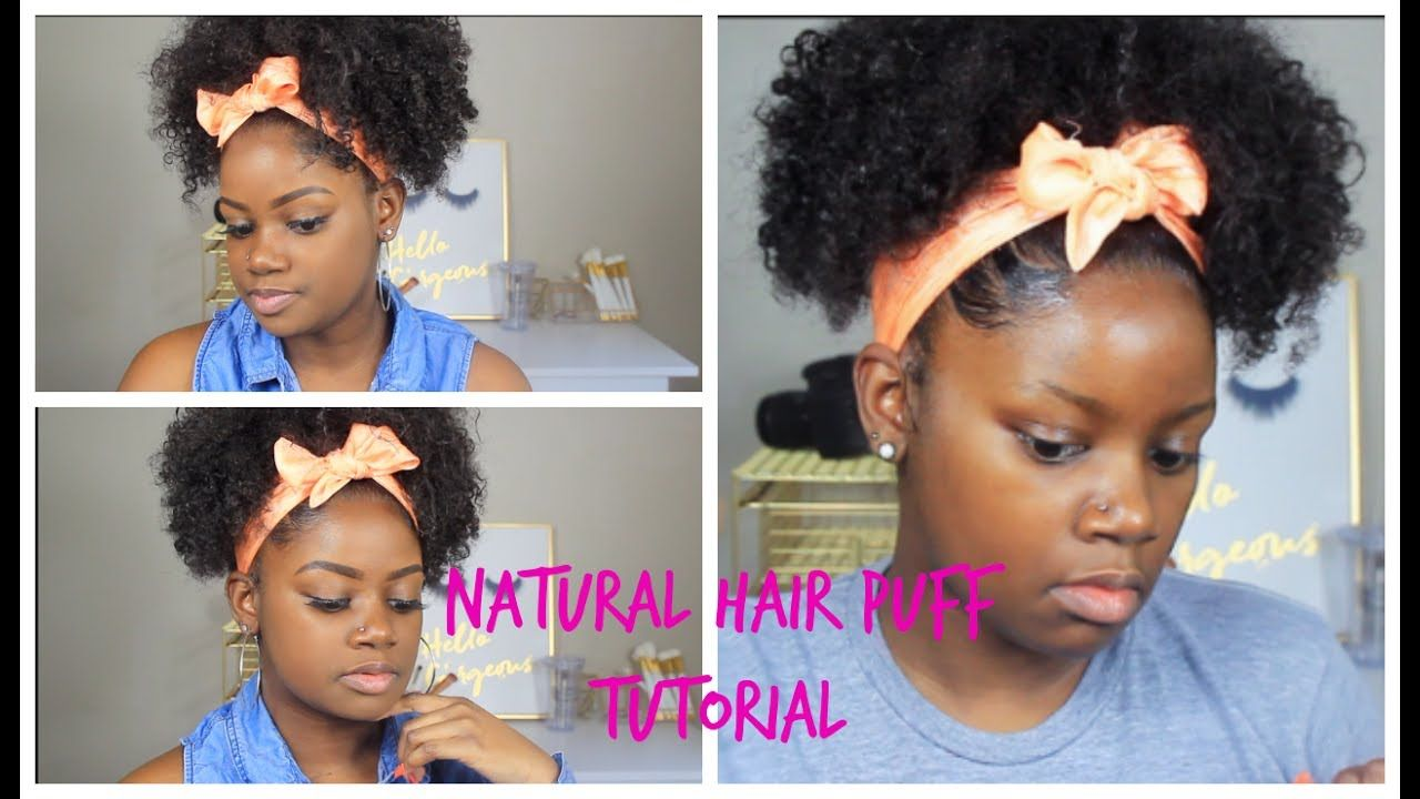 Quick and easy summer natural hairstyle
