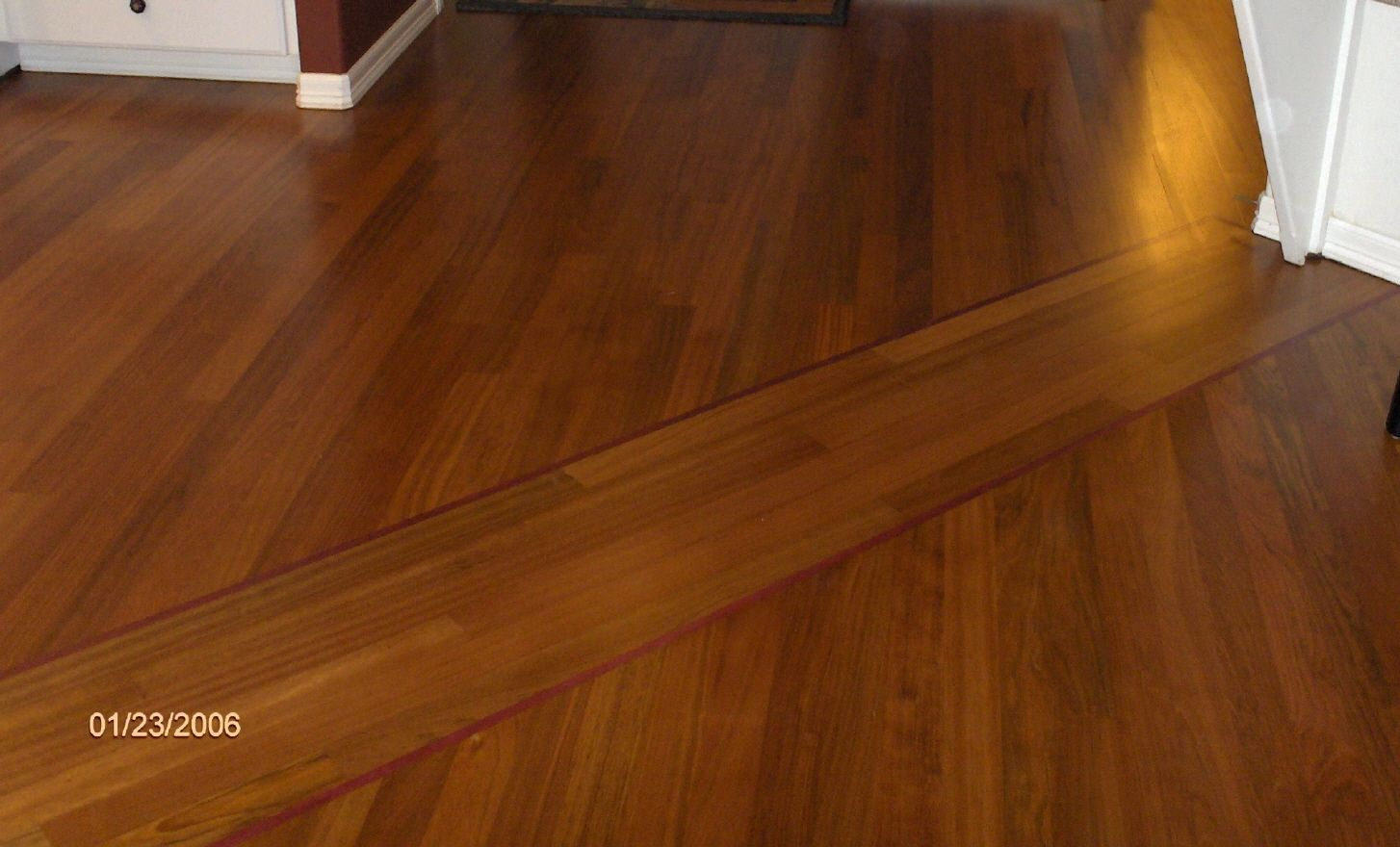 Transition Between Old And New Hardwood Floors