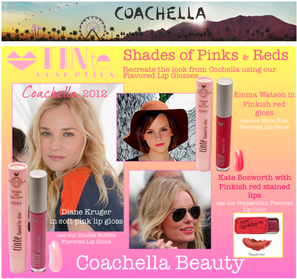 #Cochella Beauty Recreate the look using TINte Cosmetics #flavoredlipgloss Enriched with shea butter, best lip gloss for chapped lips. Flavored Lip Color in vintage slider tins