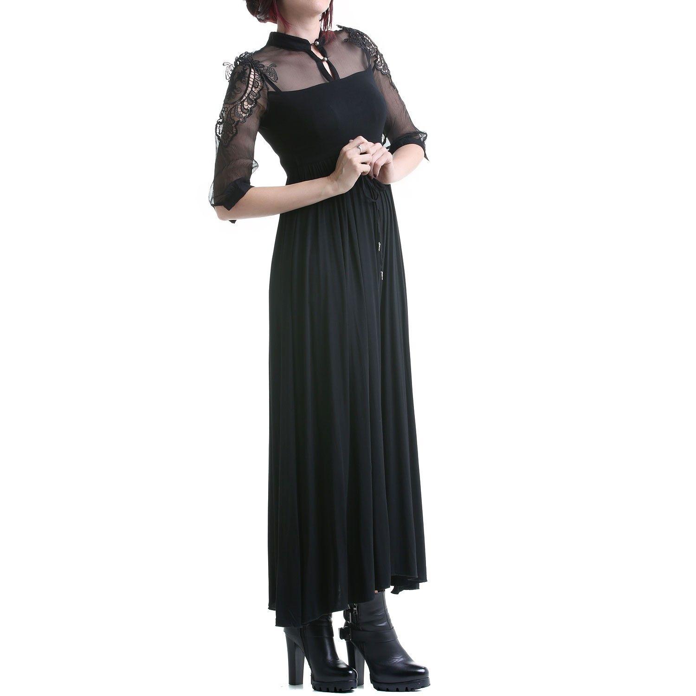 7c13607f3 Vestido Gótico Largo y Elástico