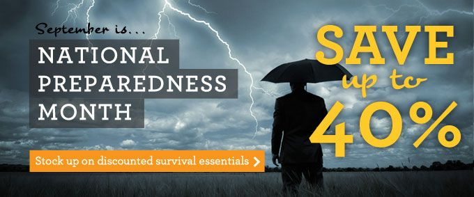 It's National Preparedness Month, Stock up in the Shelf Reliance sale!