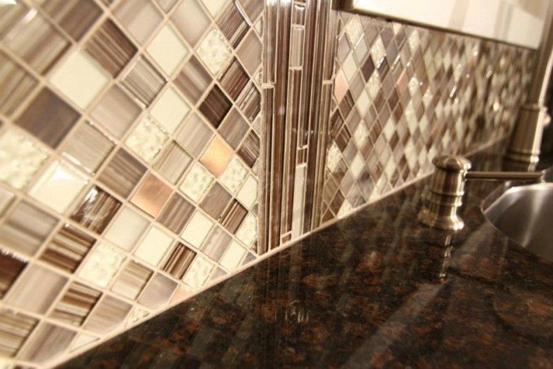 Mineral Tiles - DIY Tile Backsplash Kit Add Pack 5Ft Bamboo, $89.00 ...