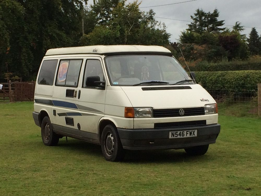 VW T4 Camper Caravelle 19 Diesel Reimo Pop Top Roof 4 Berth Campervan