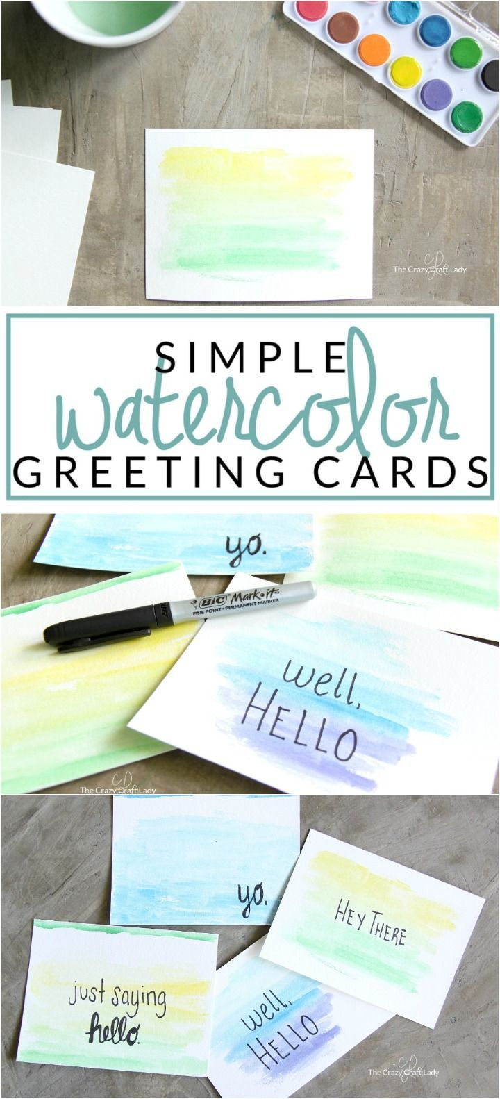 Make Your Own Watercolor Cards With Quotes