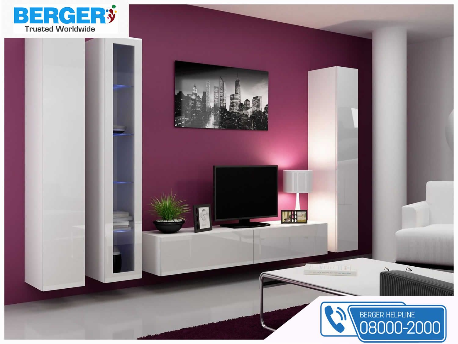 Try Something New In Your Living Room ~ Berger Paint #paints #paint #color