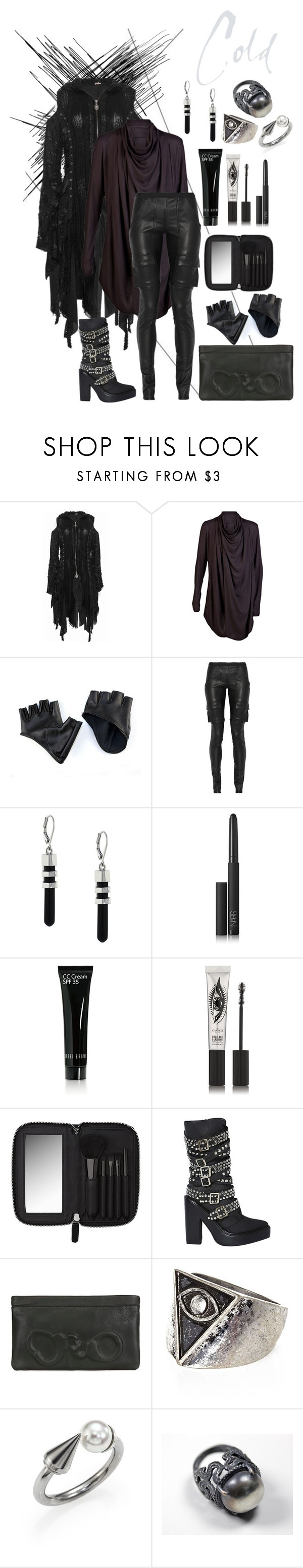 """Cold"" by rowangingerraven ❤ liked on Polyvore featuring Julius, Rick Owens, Vince Camuto, NARS Cosmetics, Bobbi Brown Cosmetics, Eyeko, Witchery, Jeffrey Campbell, Vlieger & Vandam and River Island"