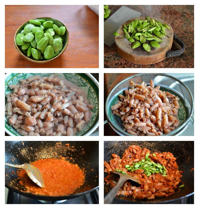 Indonesian Medan Food Sambal Cumi Pete Dried Baby Squid In Chilli And Tomato Sauce Resep Makanan Resep Masakan Makanan Dan Minuman