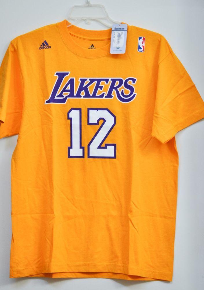 96ae5d88c Adidas Los Angeles Lakers NBA Basketball Men Tee Howard 12 Yellow size L  NWT  adidas
