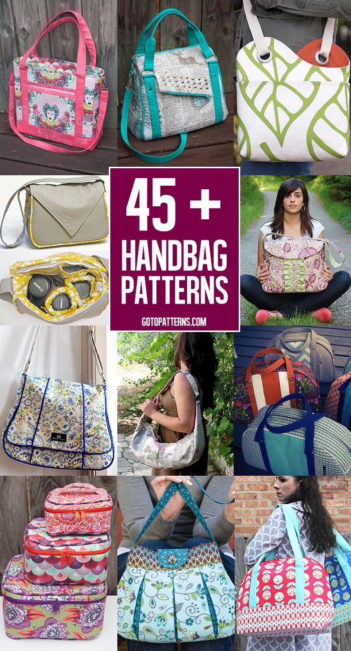 Über 45 große Tasche Muster zu nähen! | Nähen - sewing | Pinterest ...