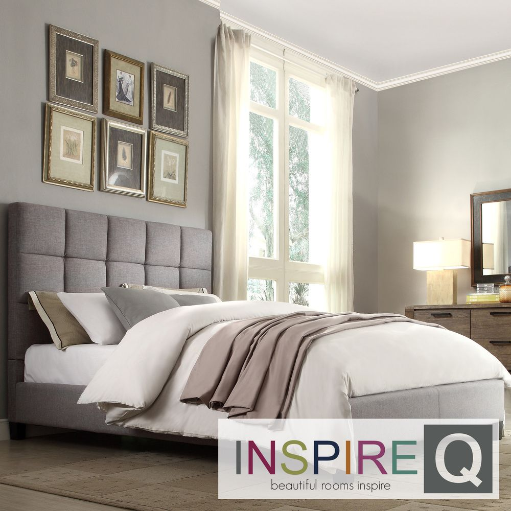 Fenton Column Upholstered Full Bed iNSPIRE Q Modern by iNSPIRE Q