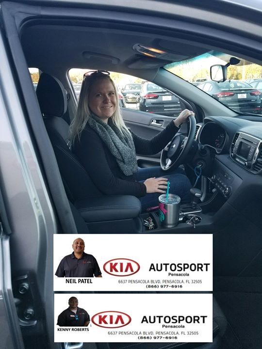 Delightful KIA AutoSport Of Pensacola And Neil Patel/Kenny Roberts Would Like To  CONGRATULATE Ms. Gorum On The Purchase Of Her NEW 2018 Kia Sportageu2026