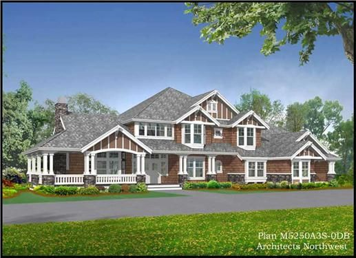 Country Craftsman Home With 5 Bedrms 6590 Sq Ft Plan 115 1112 Craftsman Style House Plans Craftsman House Plans Craftsman House