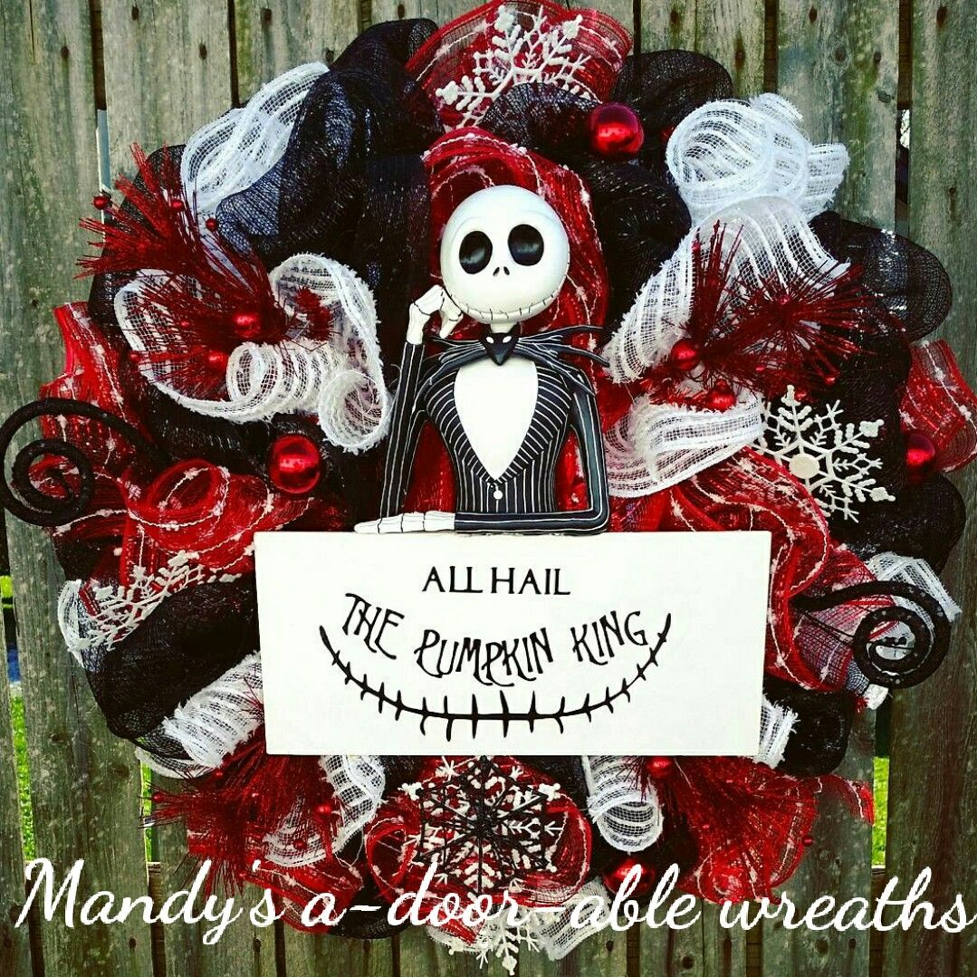 Nightmare before Christmas wreath, Jack Skellington, Christmas ...