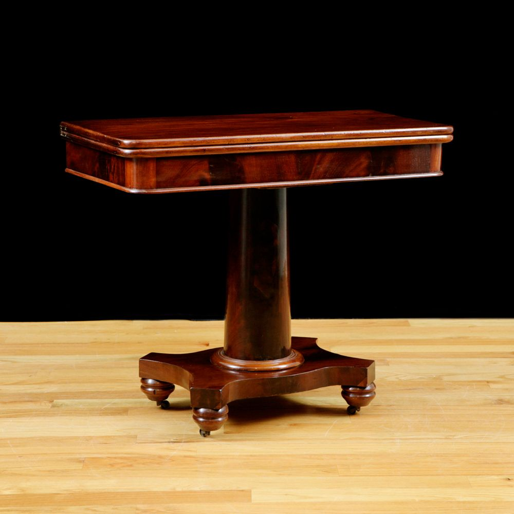 American Empire Game Table in Mahogany, c. 1835 - American Empire Game Table In Mahogany, C. 1835 Favorite Furniture