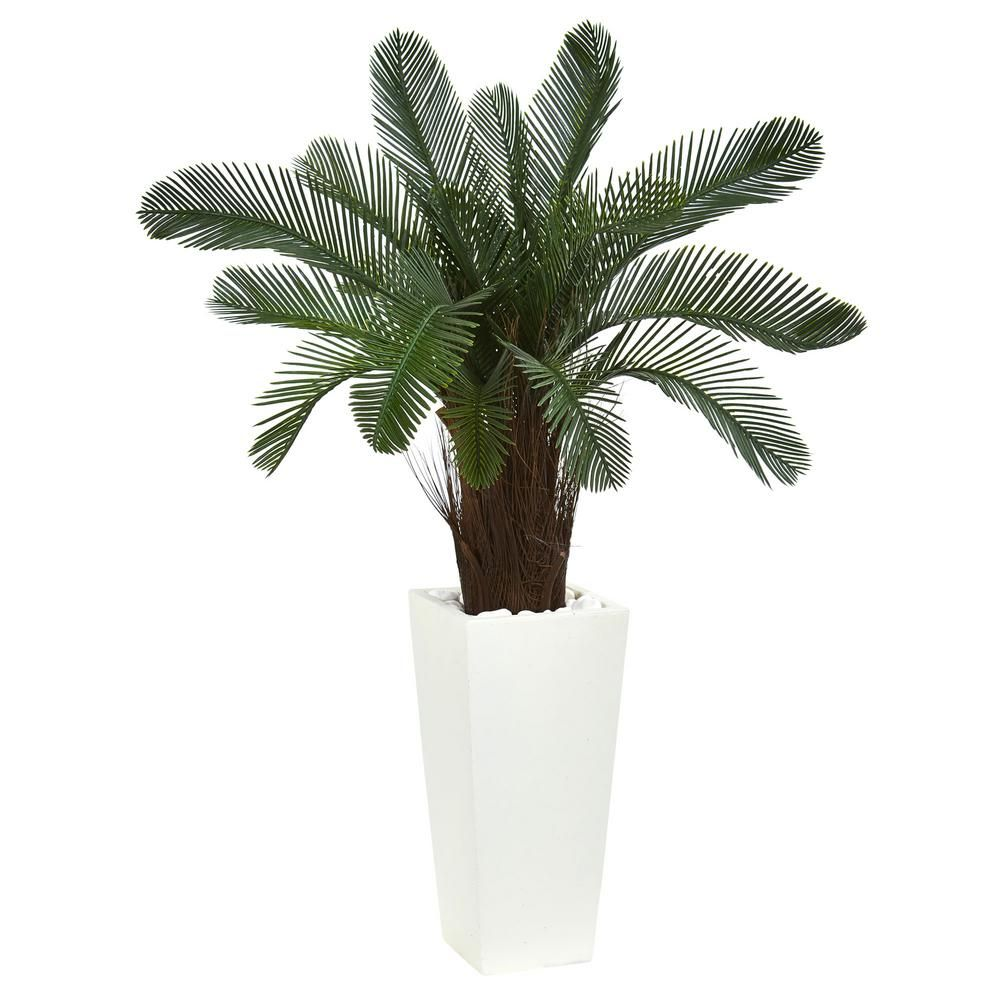 in high indooroutdoor cycas artificial tree in white tower