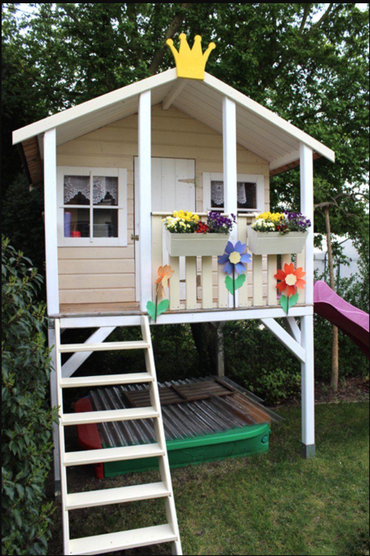 Farbe Ist Von Schoner Wohnen Duracryl Buntlack Hellelfenbein Und Schoner Wohnen Weiss Zusammen In 2020 Stelzenhaus Kinder Spielhaus Garten Kinder Gartenhaus