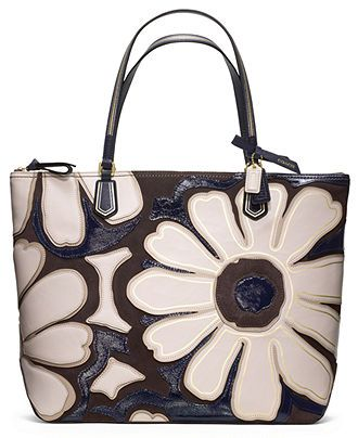 Coach Poppy Elevated Flower Tote Coach Handbags Accessories