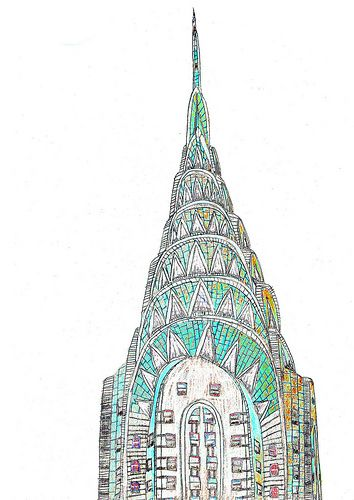 My Own Little Heaven New York Illustration Chrysler Building