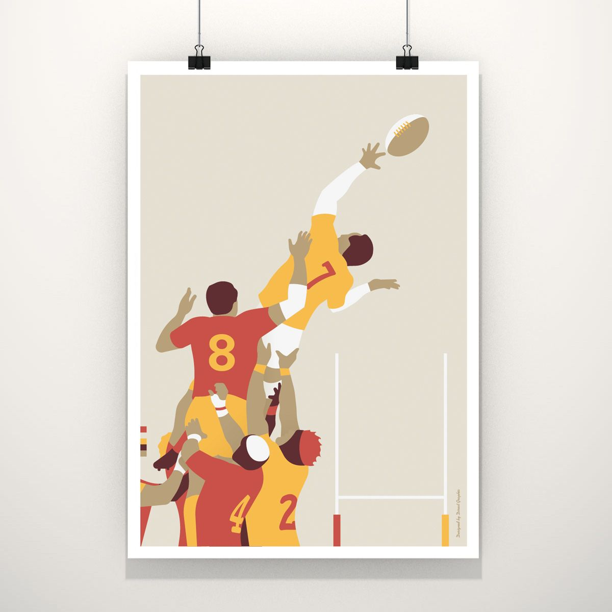 La Touche De Rugby Direct Graphic Design Dessin Rugby Rugby Illustration
