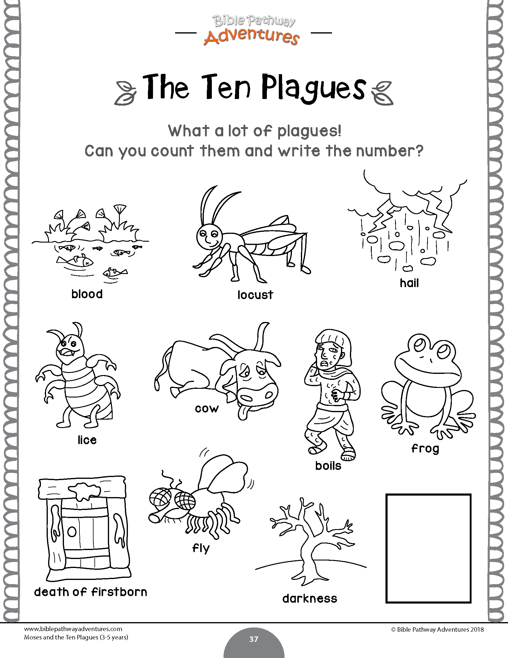 Moses And The Ten Plagues Activity Book Amp Lesson Plans For