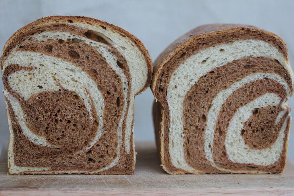 BBA Challenge #19 Marbled Rye Bread, # 20 Multigrain Bread