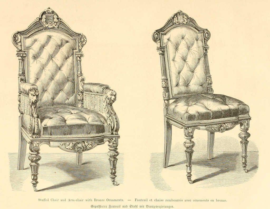 Imgdessins Meubles Mobilierfauteuil Et Chaise Rembourres Ornements - Meuble fauteuil