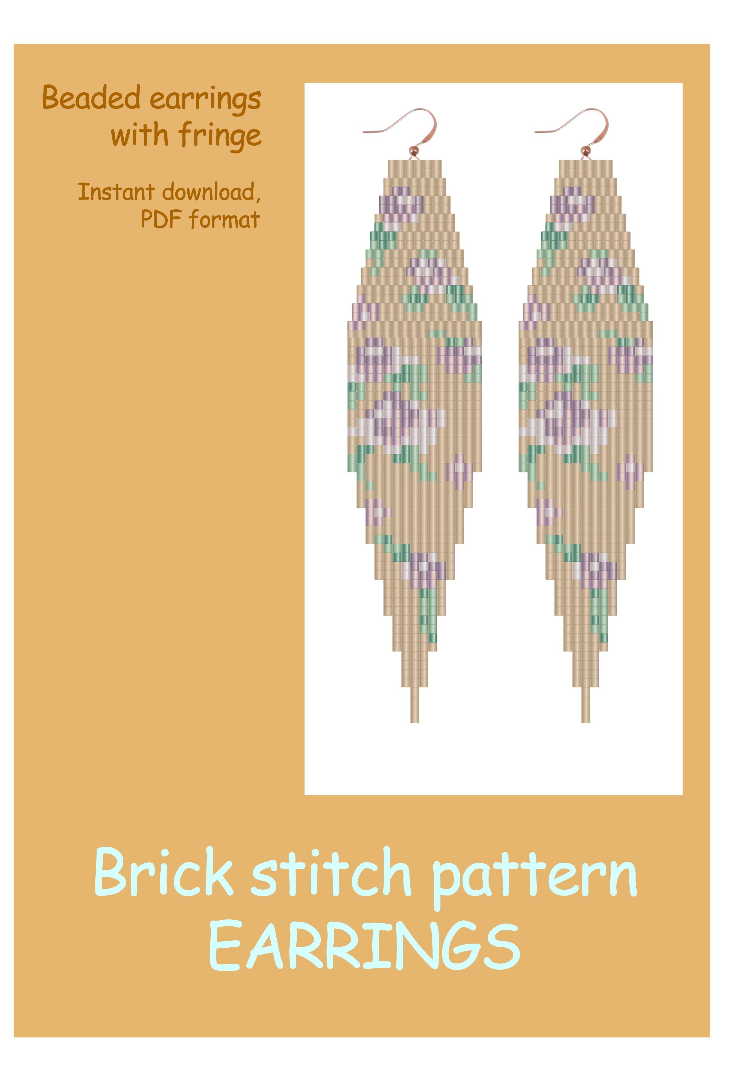 Daisy Beaded Earrings Pattern,pdf Beaded Tutorial