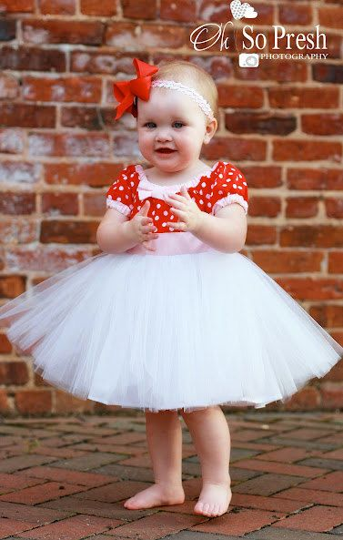 4390fbfcad TUTU DRESS in retro RED and white polka dot tutu skirt for baby toddler girl  birthday party portrait flower special occasion