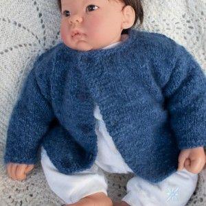 4d26ddcc29c7 Little Boy Blue - Handknit Angora Baby Sweater
