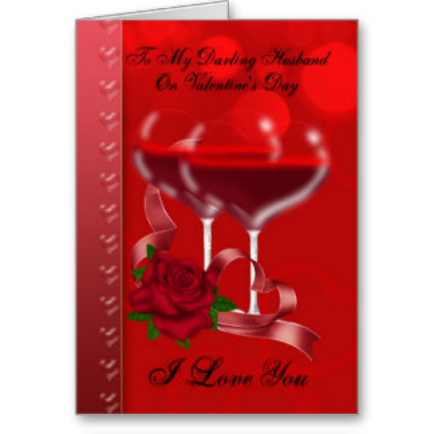 Husband Valentines Day Card With Heart Glasses Birthday Greetings