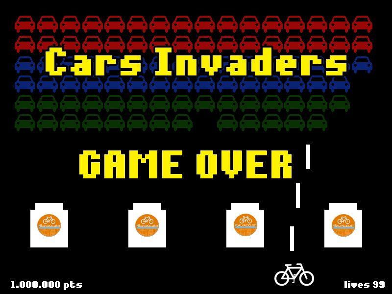 Game Over for Cars Invaders ;) #bike #bici #salvaiciclisti