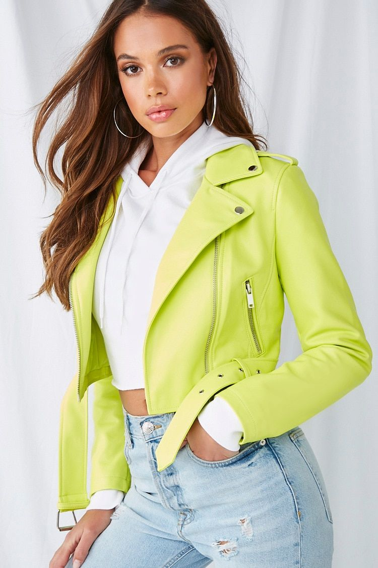 Faux Leather Moto Jacket Forever 21 Faux leather moto