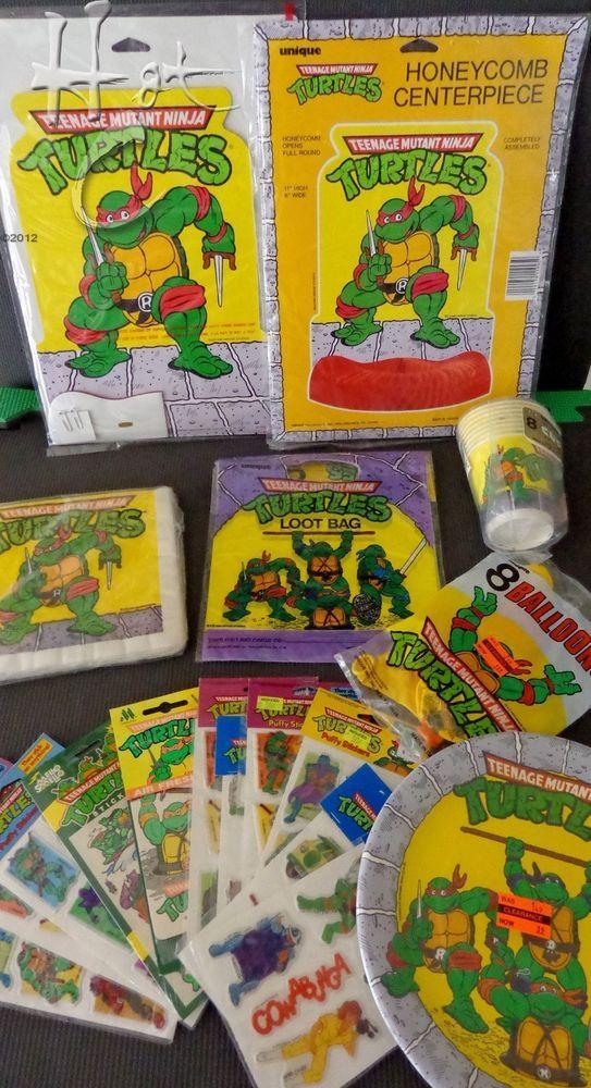 Tmnt Party Supplies Vintage 1989 1990 Birthdays Unique L17 Tmnt Party Teenage Mutant Ninja Turtles Party Turtle Party
