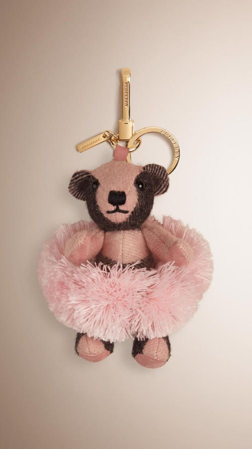 295 Best My Projects Images On Pinterest: Burberry Ballerina Thomas Bear Charm In Check Cashmere