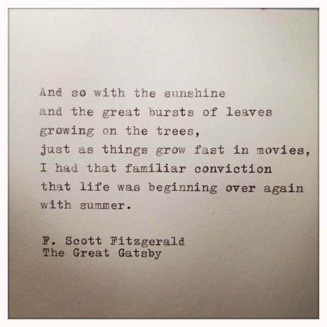The Great Gatsby Love Quotes The Great Gatsby Quote Typed On Typewriterfarmnflea On Etsy