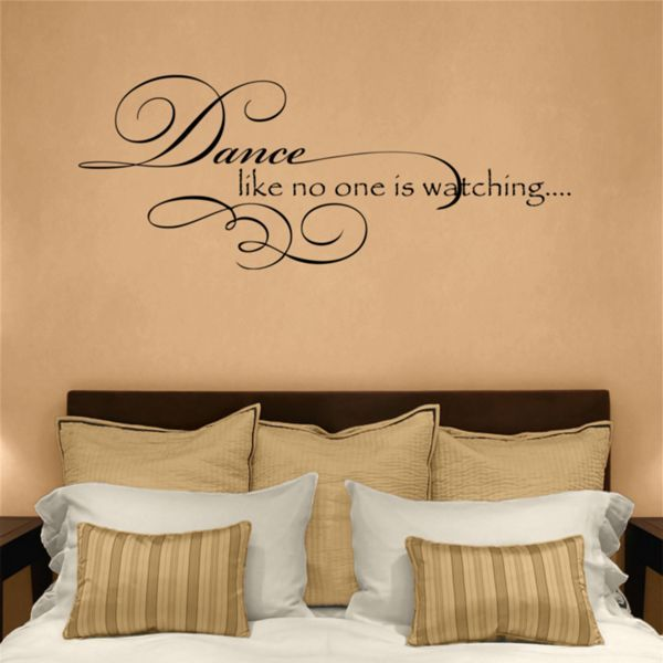Dance Like No One Is Watching Quote Wall Decals Quotes Dali Wall Decals Wall Decals Inspirational Wall Decals Custom Wall Decals