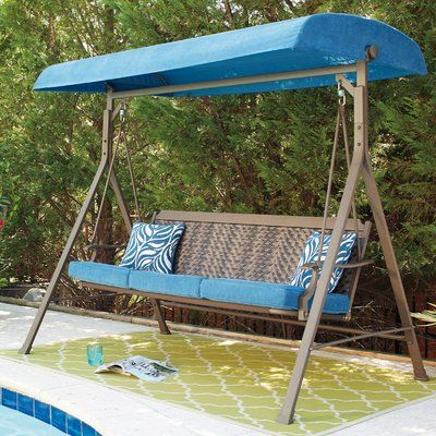 Northbrook Porch Swingwith Stand Porch Swing Outdoor Swing Outdoor Patio Furniture