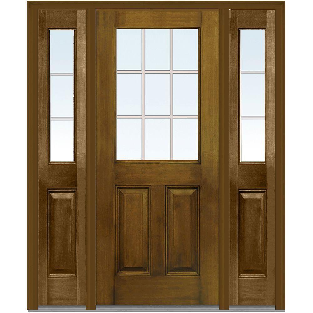 Lovely Full Lite Wood Entry Door