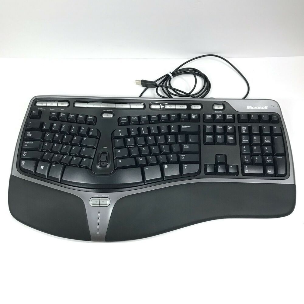 Microsoft Natural Ergonomic Keyboard 4000 Black English Keyboard Microsoft Business Person