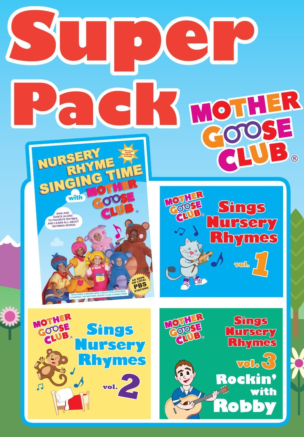 Mother Goose Club Super Pack Dvd All 3 Cds
