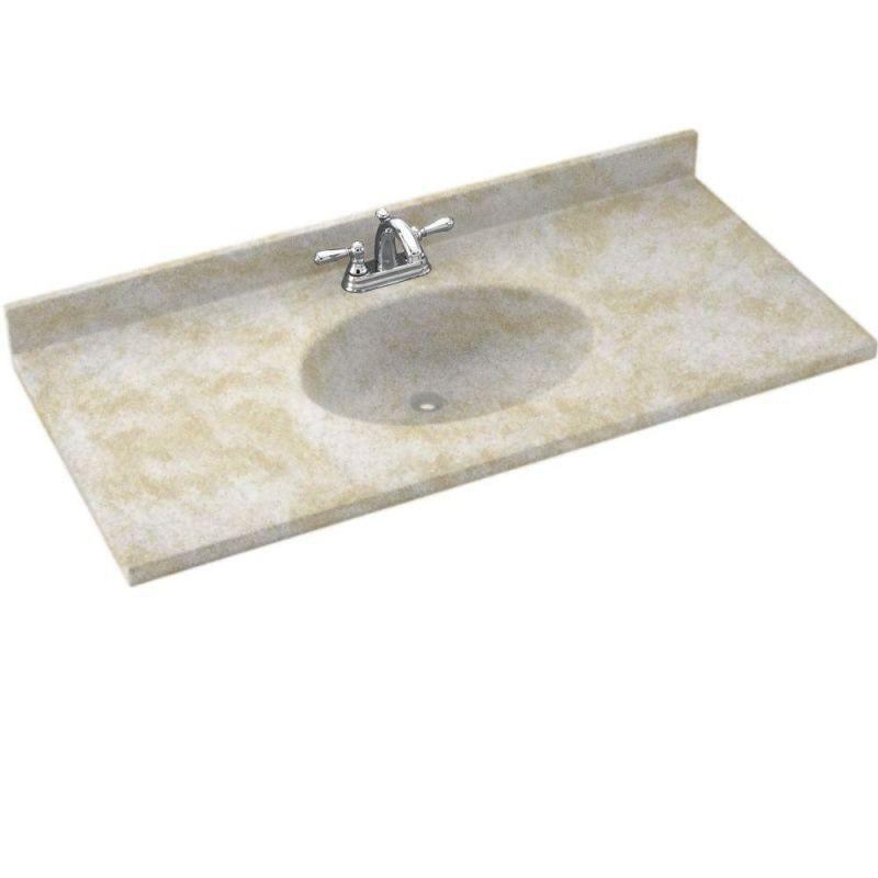 Swanstone Ch02255 035 Arctic Granite Chesapeake One Piece Vanity Top And Sink 55 Wide