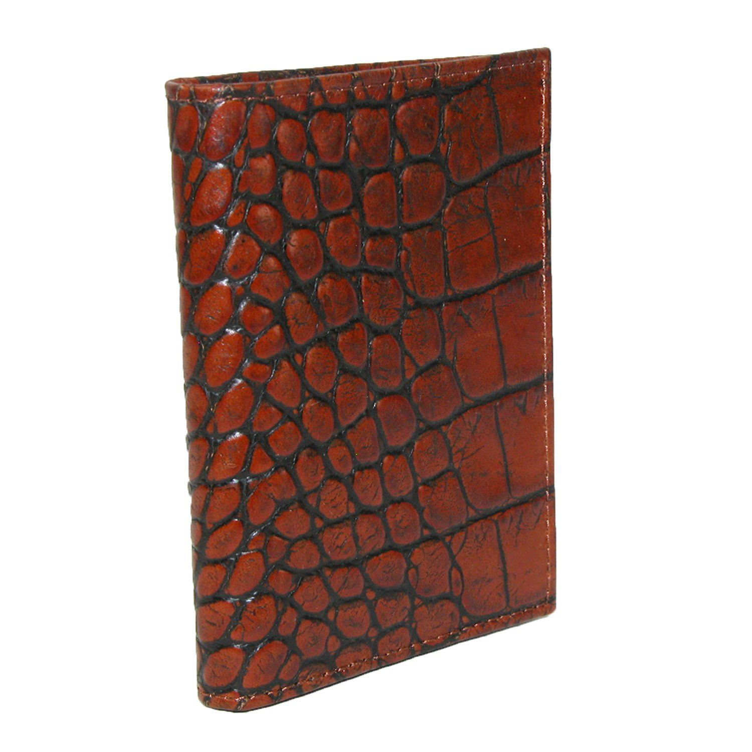 Scully Men\'s Leather Gusseted Card Case with Croco Finish | Scully ...