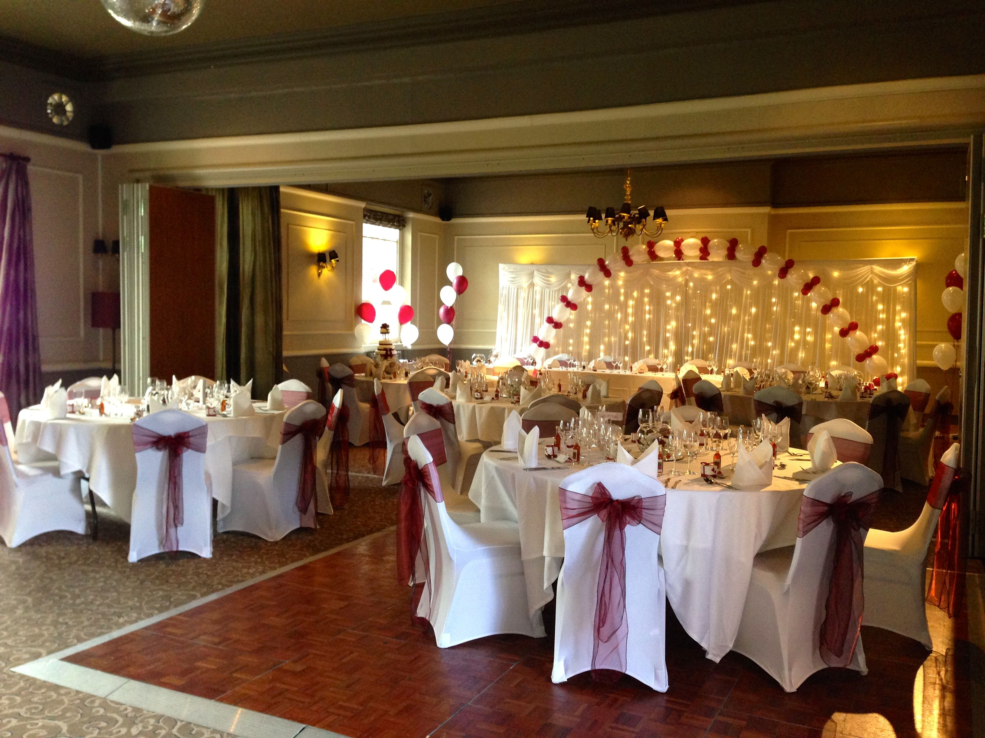 chair covers yeovil unique baby shower chairs backdrop balloon arch and centrepieces at the manor hotel