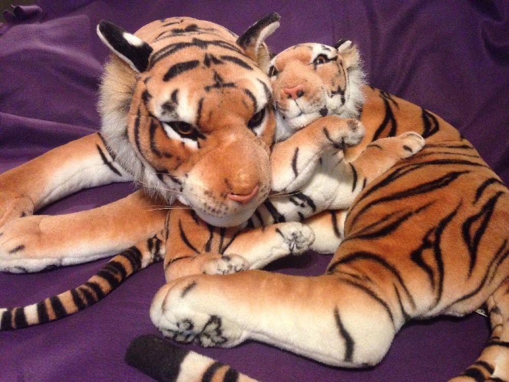 Tiger Plush Mom With Baby Plush 3 Feet Large Unbranded Wonderful