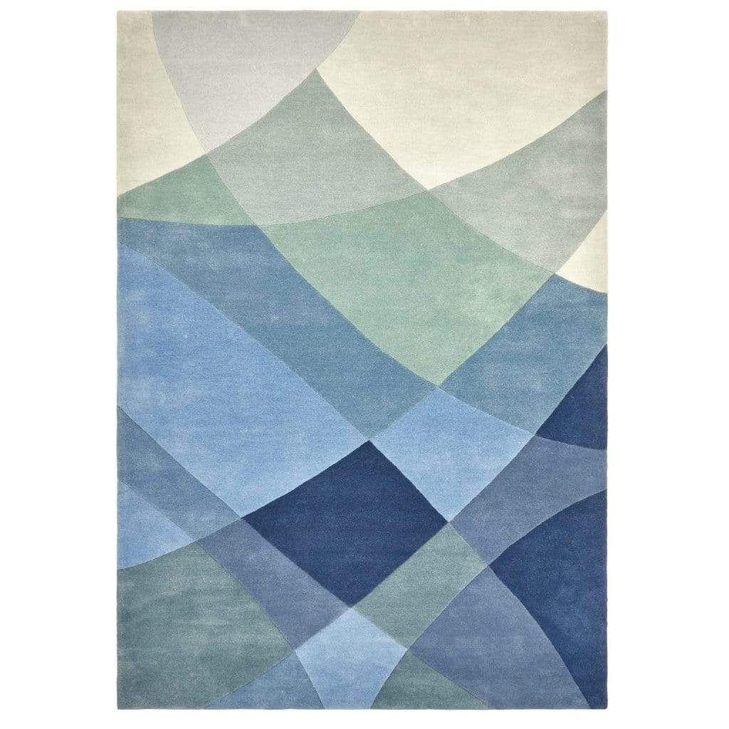 Photo of Rhythmic Tides Indigo Rug – 200 x 300 cm / Blue / Wool