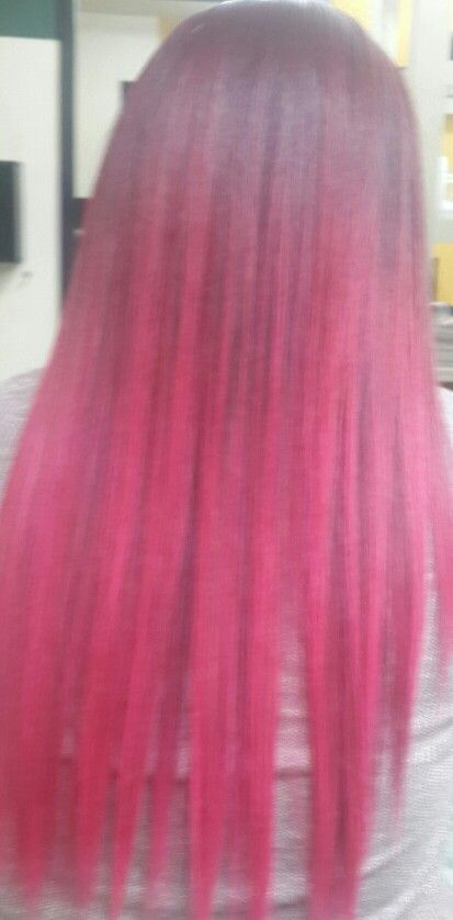 #californianas mechas fucsia